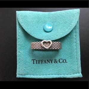 Tiffany & Co Mesh Heart Ring